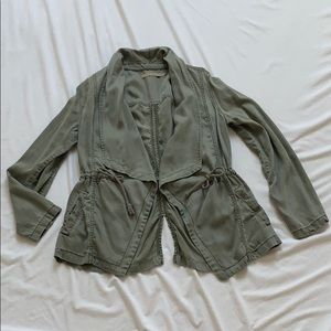 Max Jeans military army green olive green jacket M